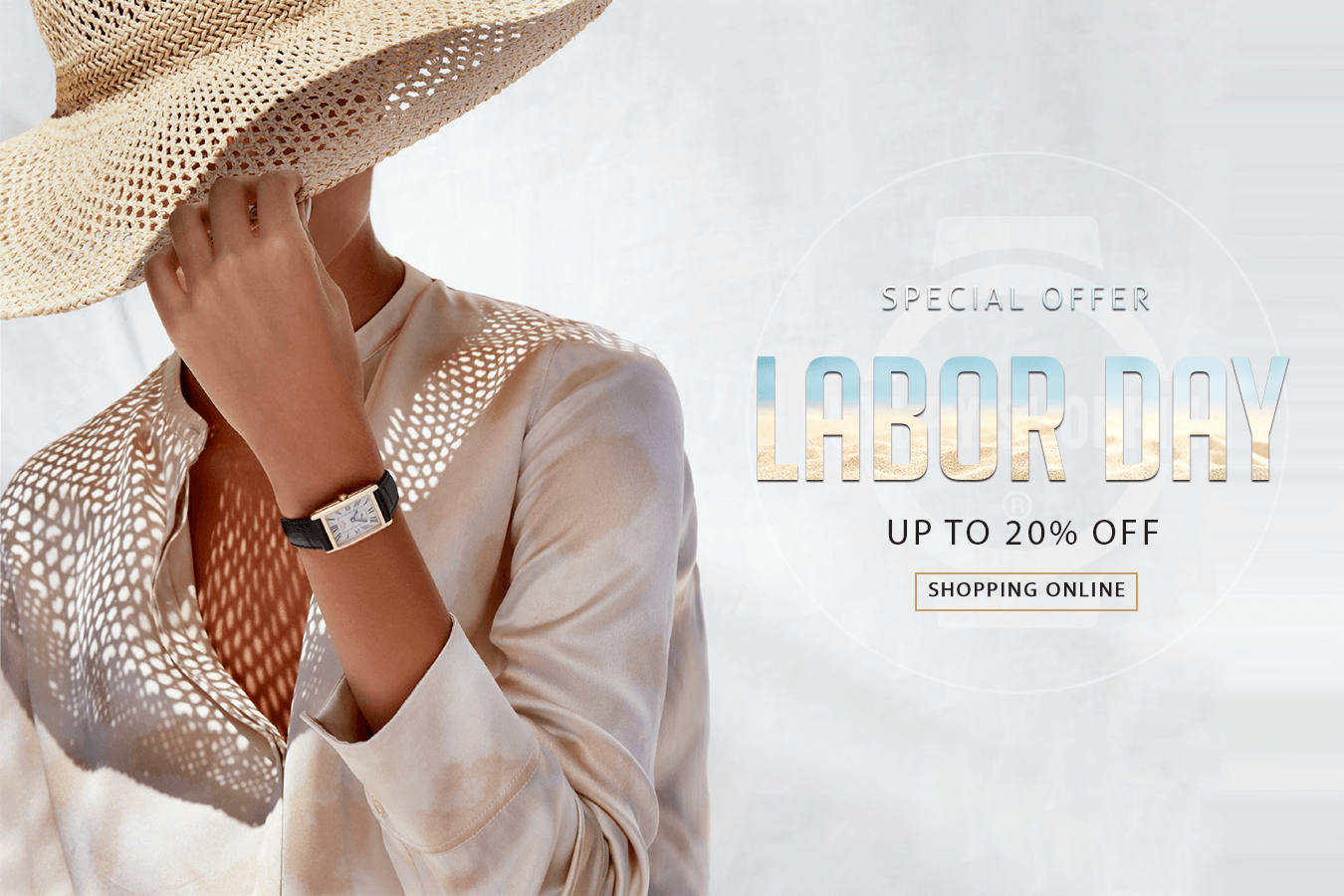 HAPPY LABOR DAY - SHOPPING WATCHES ONLINE UP TO 20% OFF