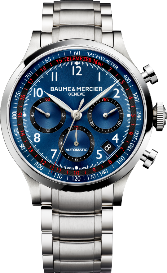Baume & Mercier 10066 Blue Chronograph Watch 44