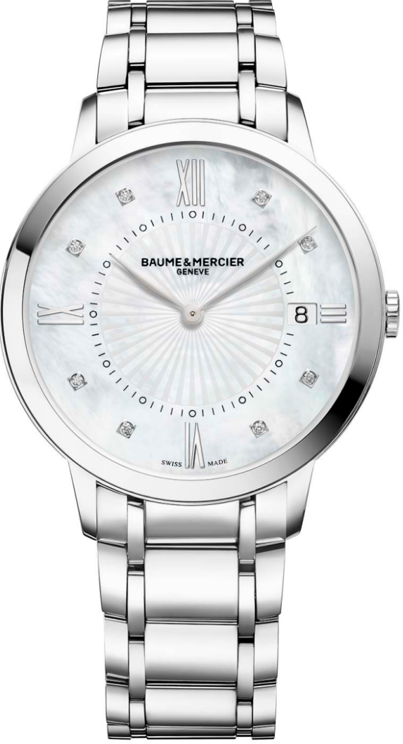 Baume & Mercier Classima 10225 Diamond Watch 36.5