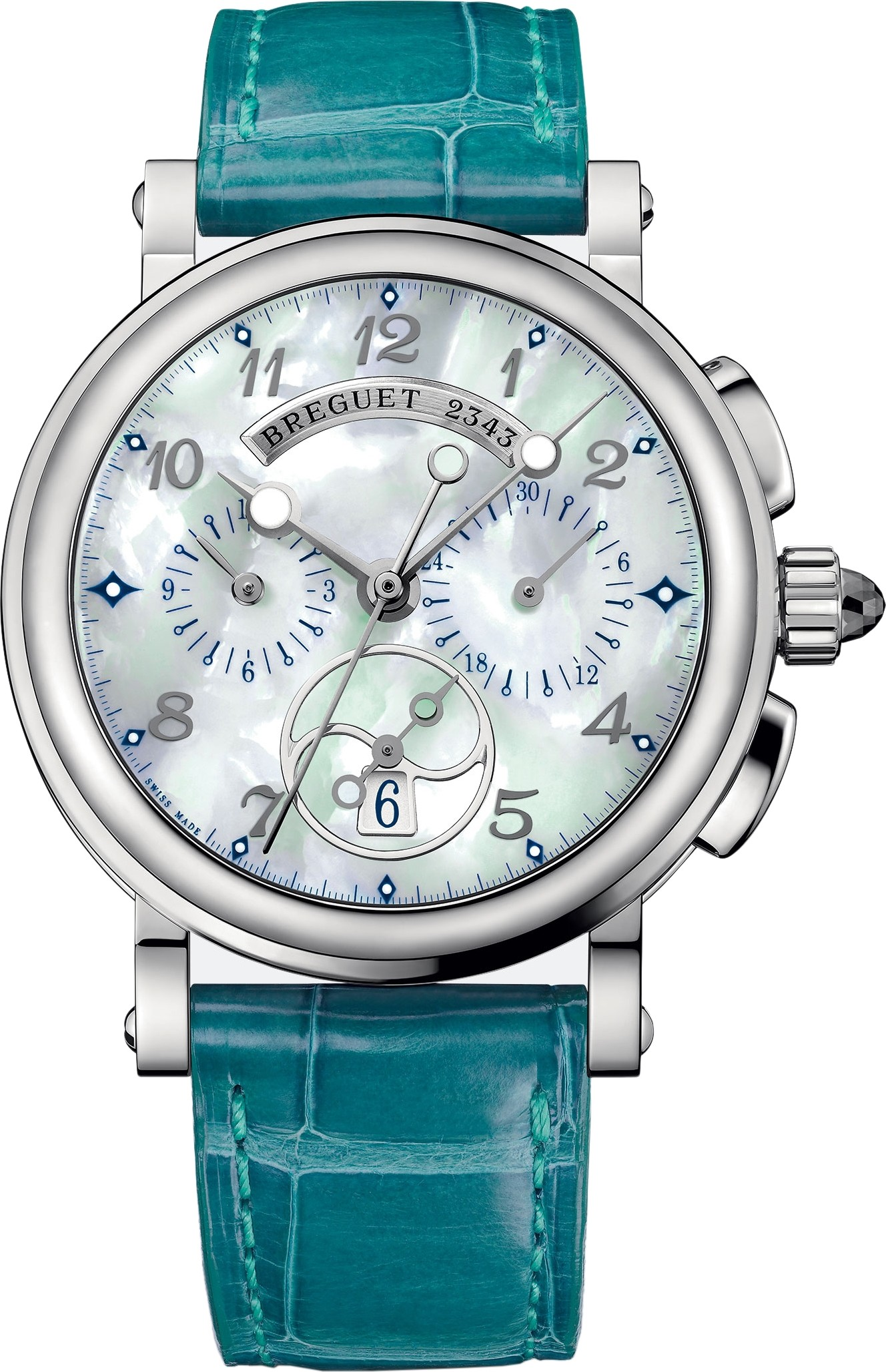 Breguet Marine Chronograph 8827st/5w/986 Watch 34.6mm