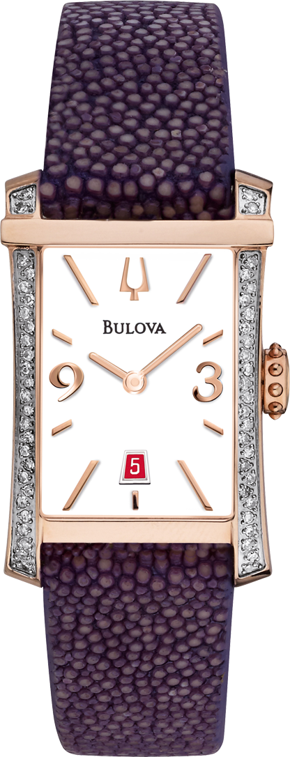 Bulova Diamond Gallery Movement Watch 21mm