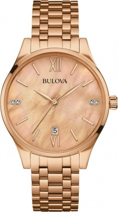 Bulova Maiden Lane Womens Diamond-Accent Watch 36mm