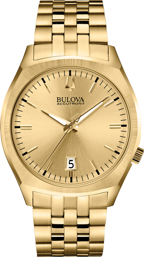 BULOVA Accutron II Surveyor Gold Watch 41mm