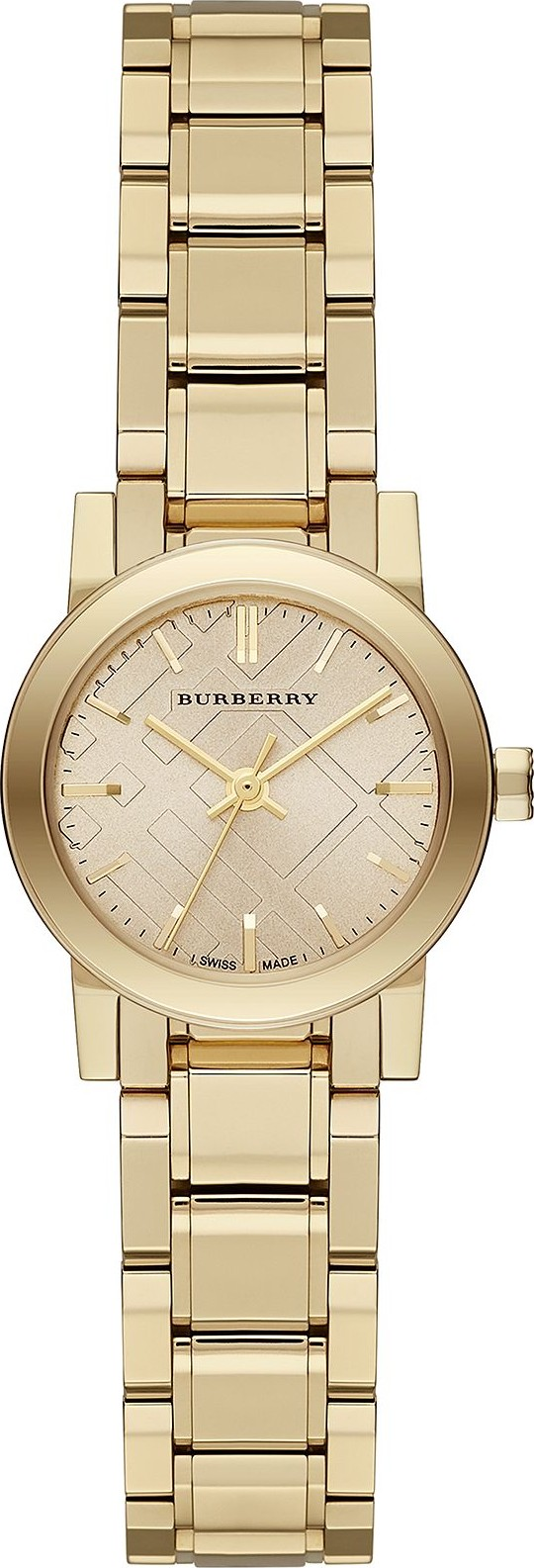 Burberry The City Champagne Unisex Swiss Watch 26mm