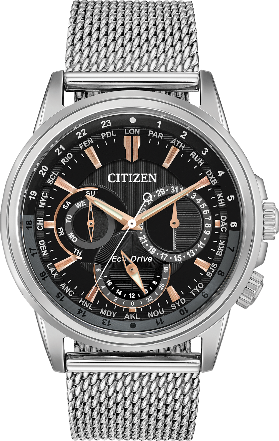 Citizen Calendrier World Time Black Watch 44mm