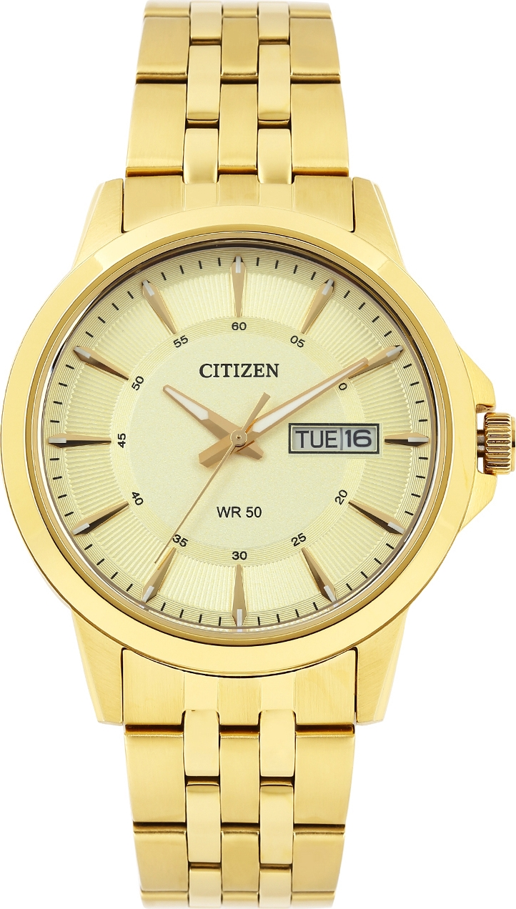 Citizen Crystal-Accent Goldtone Watch 41mm