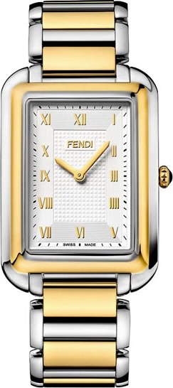 FENDI Classico F701114000 Silver Dial Men's Two Tone Watch 31x46.5MM
