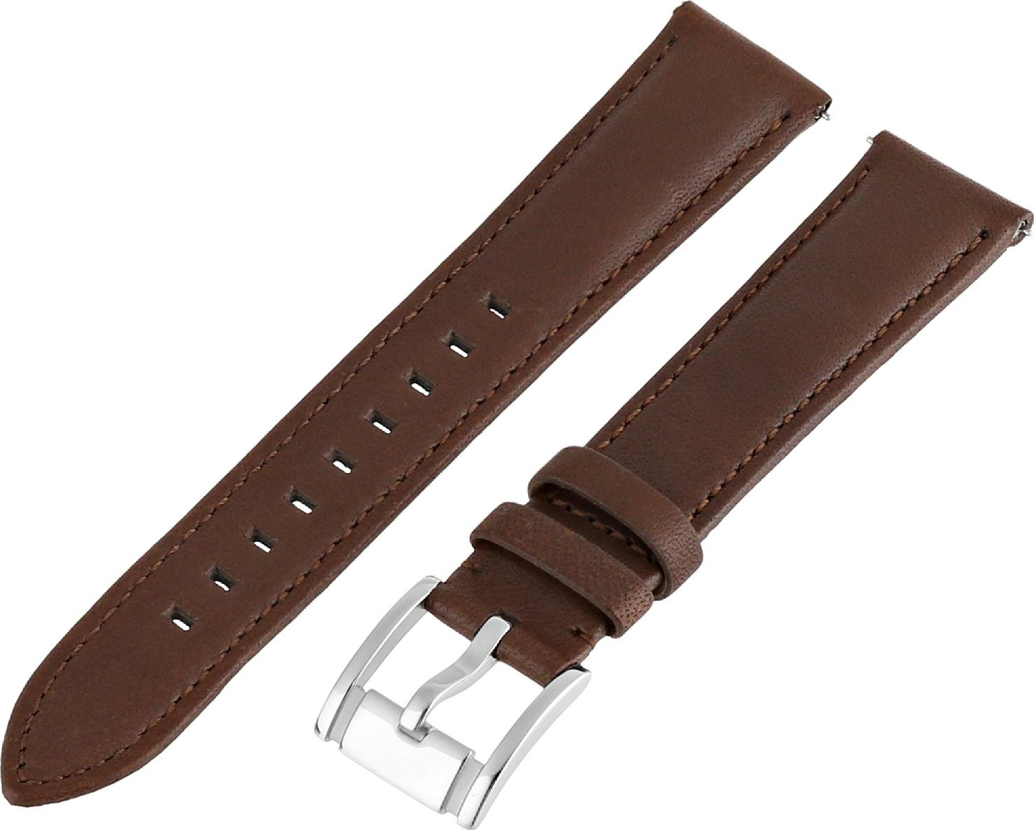 Fossil Women's Leather Watch Strap - Dark Brown 18mm