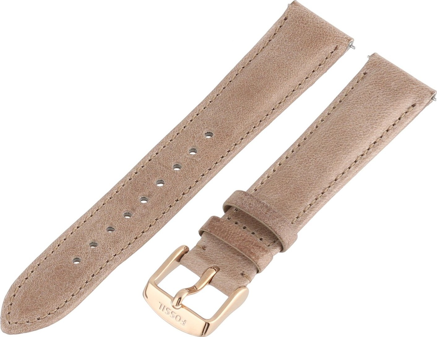 Fossil Women's Leather Watch Strap - Tan 18mm