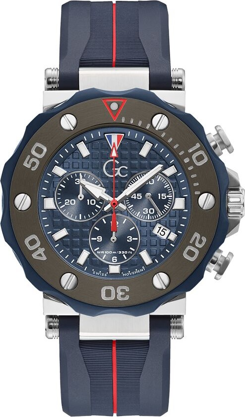 Guess Gc Divercode Silicone Watch 44mm