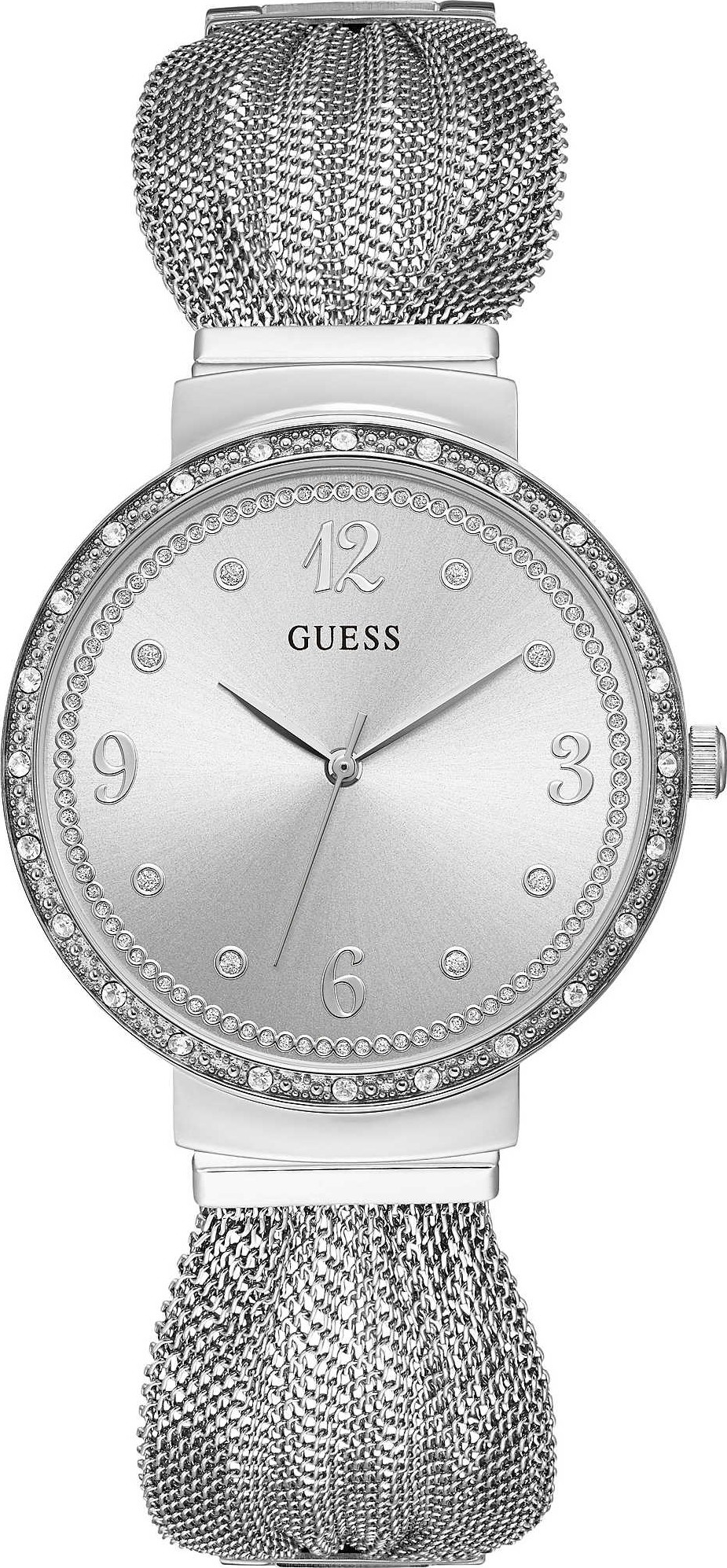 GUESS Stainless Steel Mesh Bracelet Watch 36mm