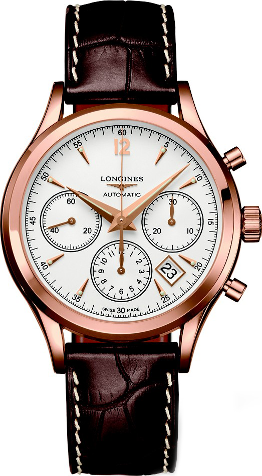 Longines L2.742.8.76.2 Heritage Automatic 18kt Watch 39mm