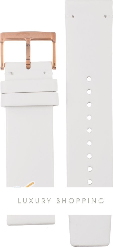 ba3dc54140f43 Marc Jacobs AMBM1212 Straps Henry Xlarge White Leather Strap 22mm