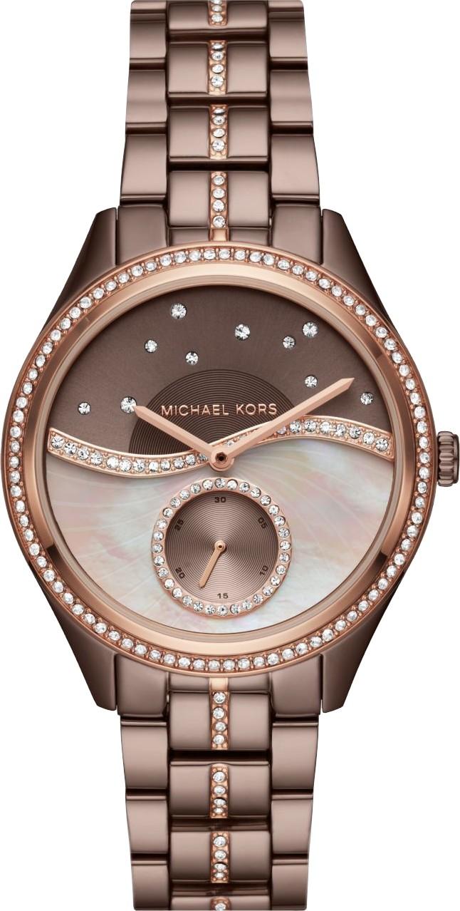 97fbc5c2f1ec Michael Kors MK3757 Lauryn Celestial Pavé Sable Watch 38mm