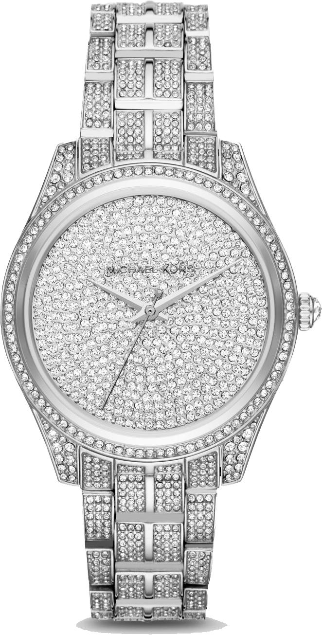aa4300014bd6 Michael Kors MK3958 Lauryn Pavé Silver-Tone Watch 38mm