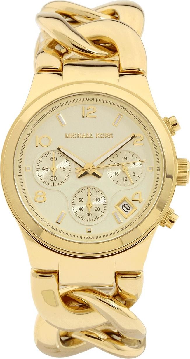 Michael Kors Mk3131 Runway Twist Gold Womens Watch 37mm