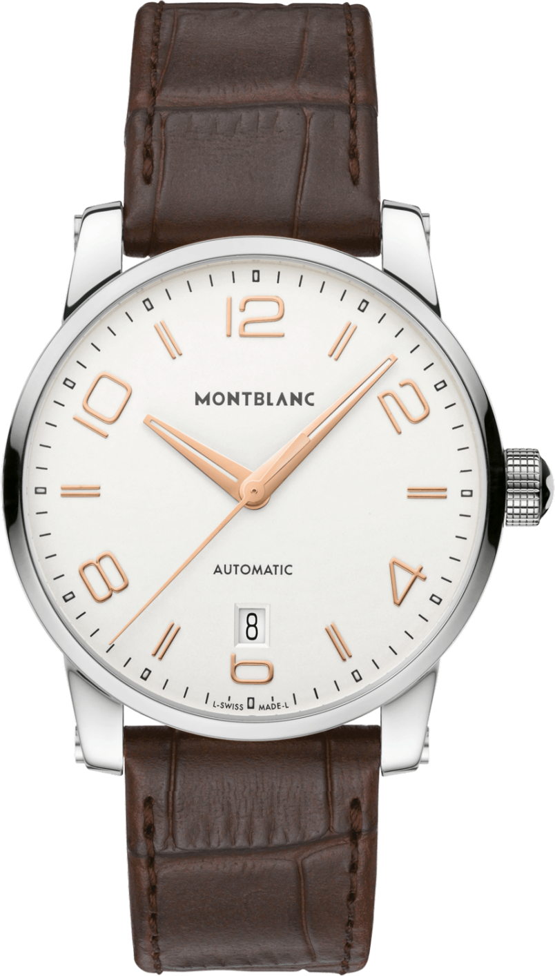 Montblanc TimeWalker 110340 Date Automatic Brown Leather 39mm