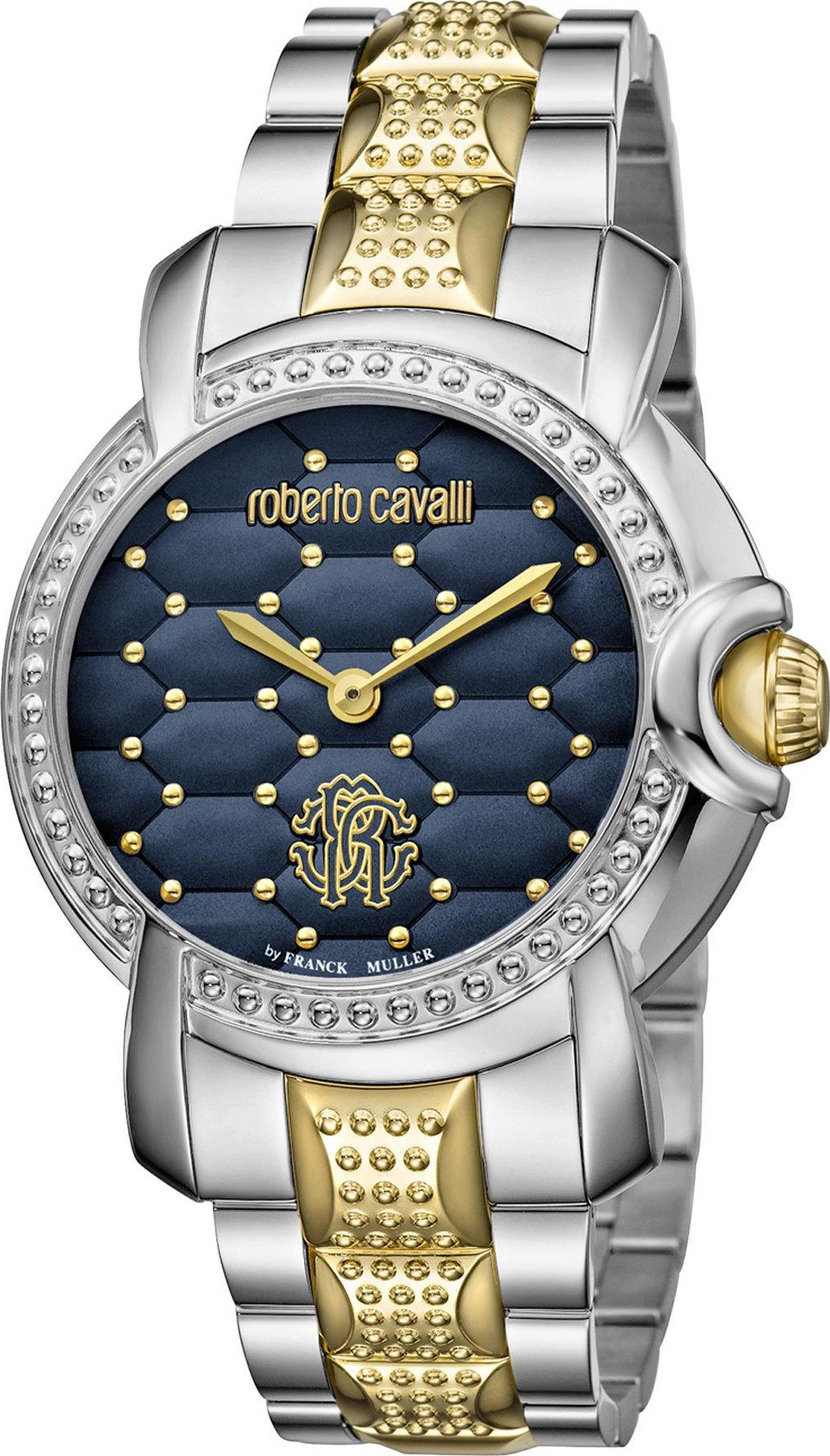 Roberto Cavalli Quilted Blue Watch 36