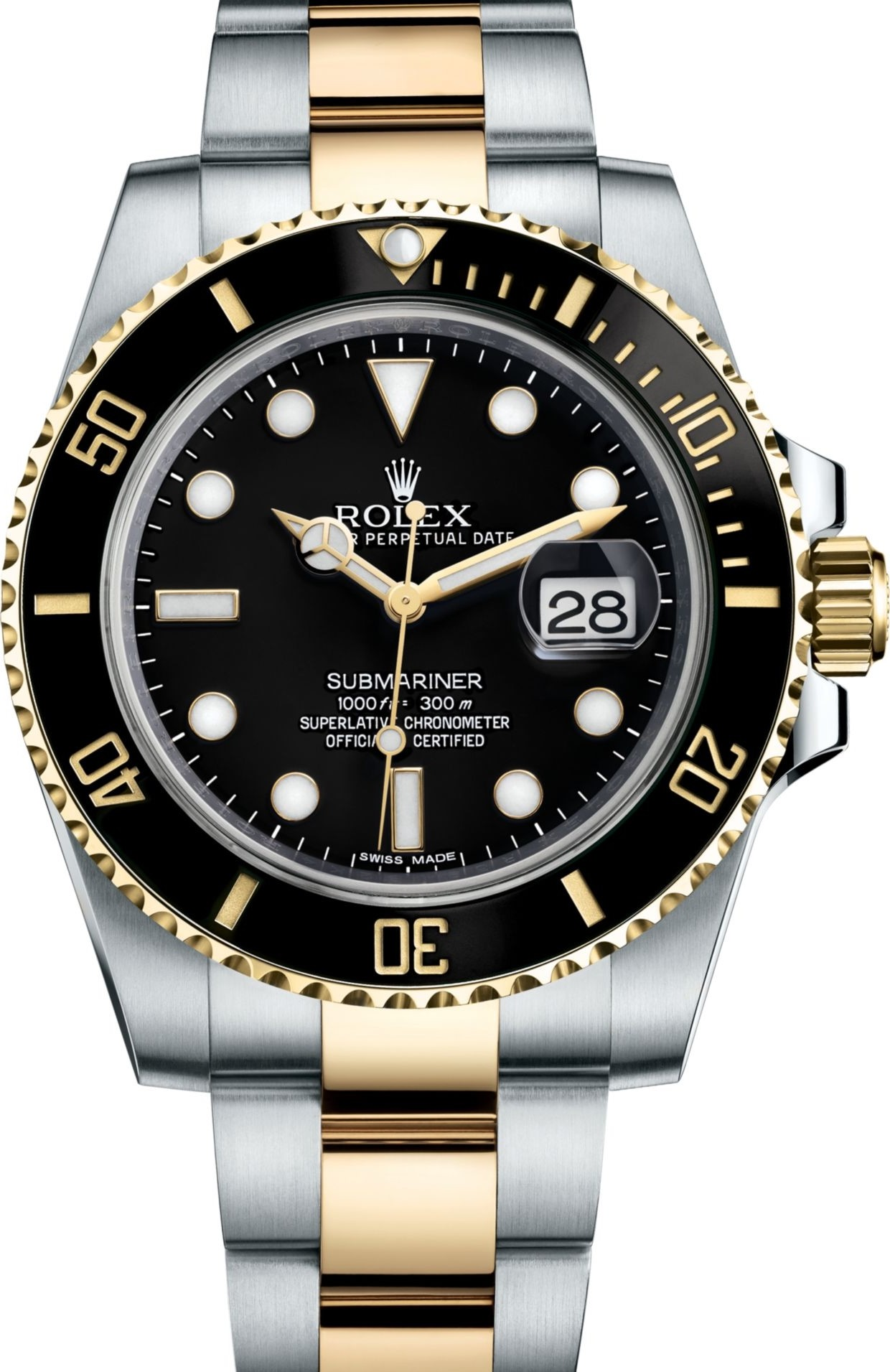 ROLEX SUBMARINER 116613-BLKDD WATCH 40