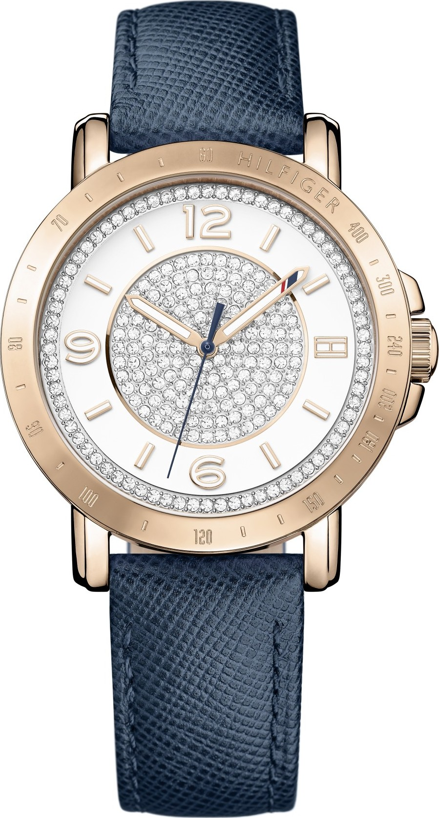 TOMMY HILFIGER White Crystal-set  Watch 34mm