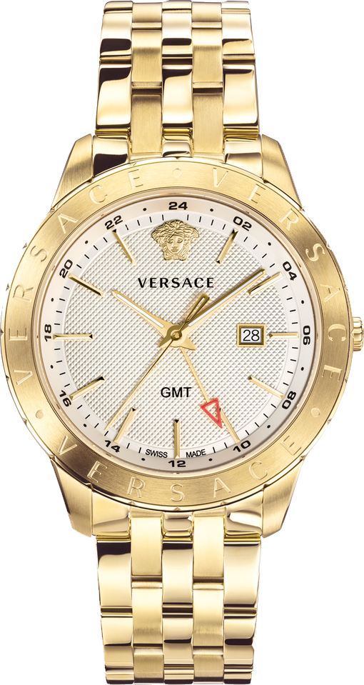 Versace Champagne Metal Univers Watch 43mm