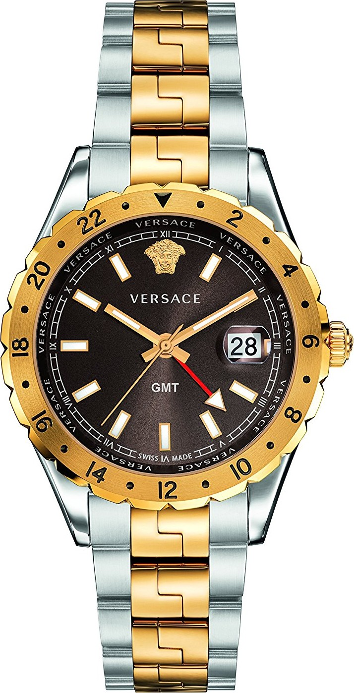 Versace HELLENYIUM GMT Swiss Watch 42mm