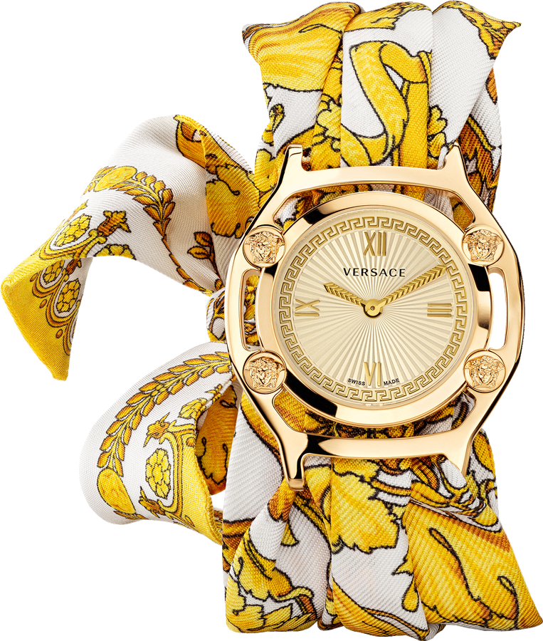 Versace Medusa Frame Barocco Print Watch 36mm