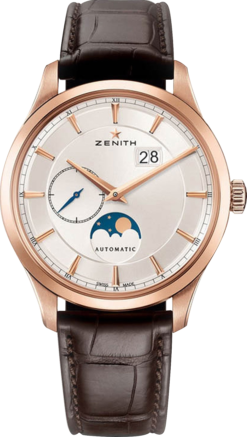 dong ho ZENITH Captain Moonphase 18kt Rose Gold Watch 40mm