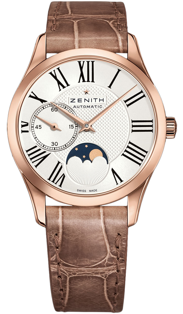 Zenith Ladies 18kt Rose Gold Leather 33mm