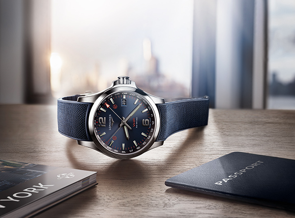 Đồng hồ Longines Conquest V.H.P. GMT Flash Setting