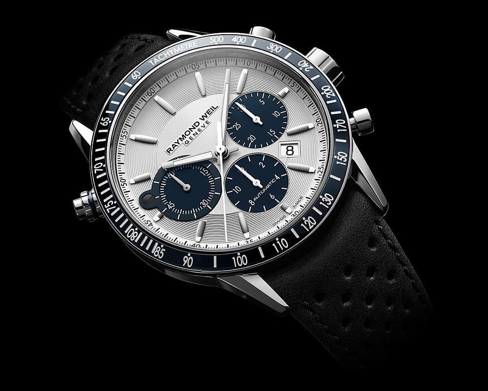 Đồng hồ Raymond Weil Freelancer với thiết kế Panda Dial