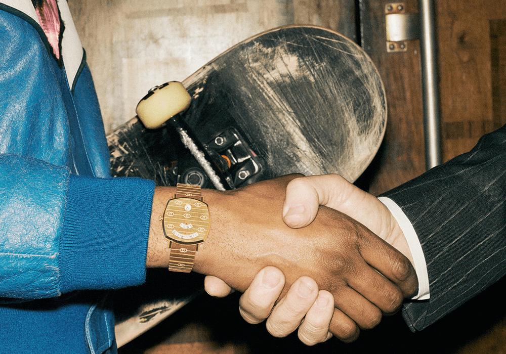 Đồng hồ Gucci Grip phiên bản thép mạ PVD gold