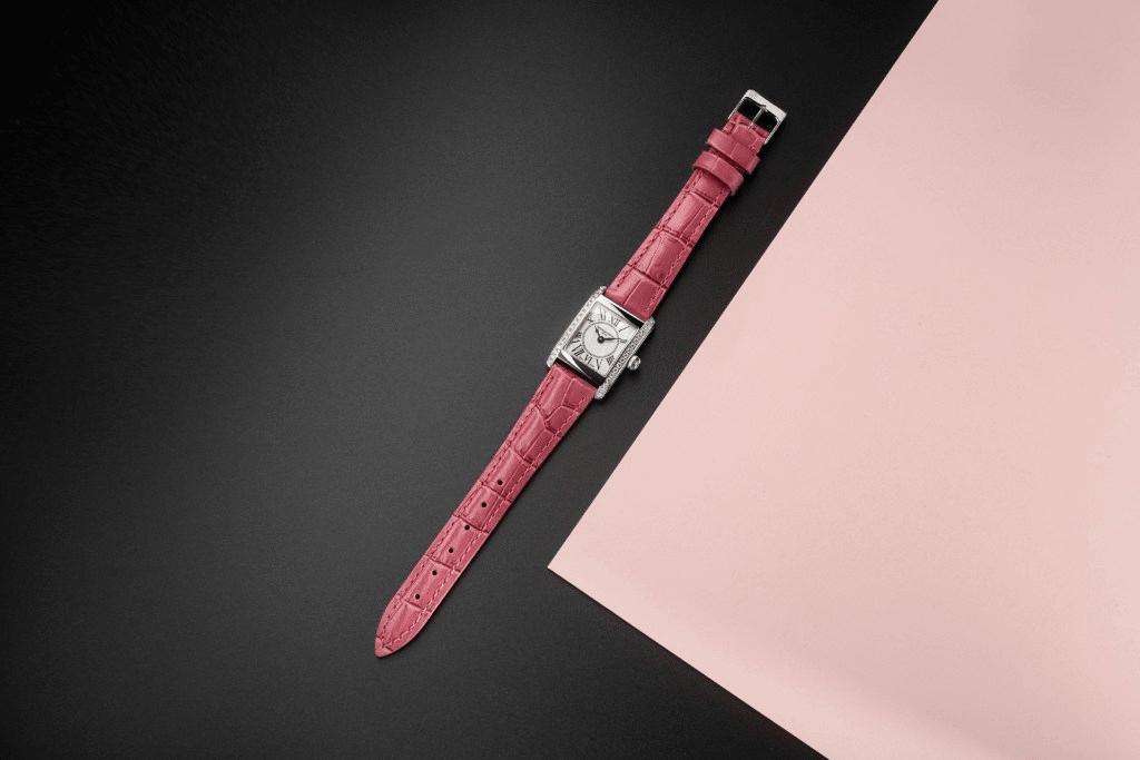 đồng hồ frederique constant Classics Carrée Ladies Pink Ribbon
