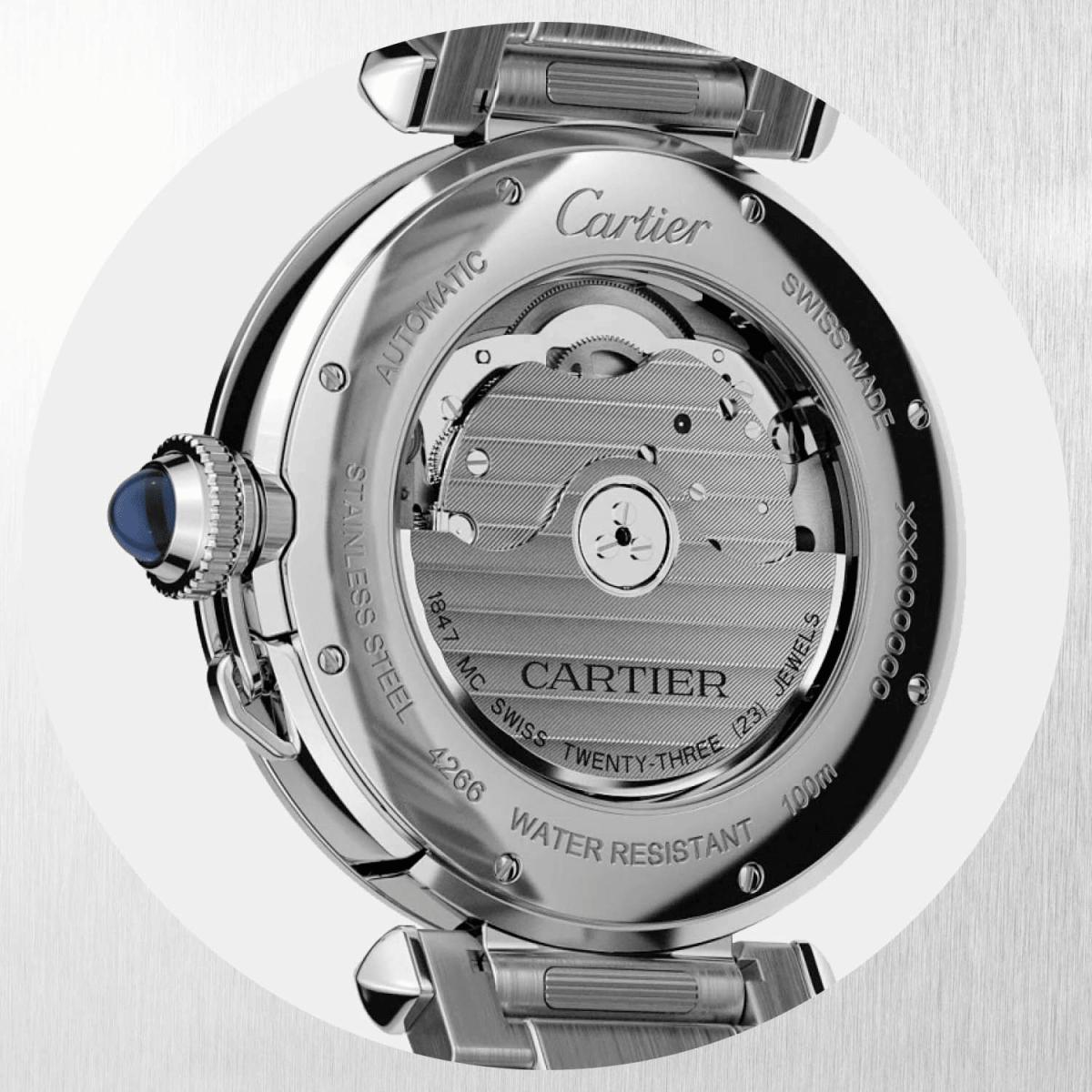 mặt lưng đồng hồ pasha de cartier 2020