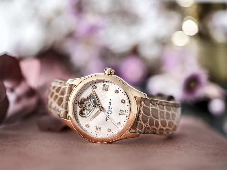 "Đồng hồ Frederique Constant Ladies Automatic 2018 ""Heart Beat"" Brown"