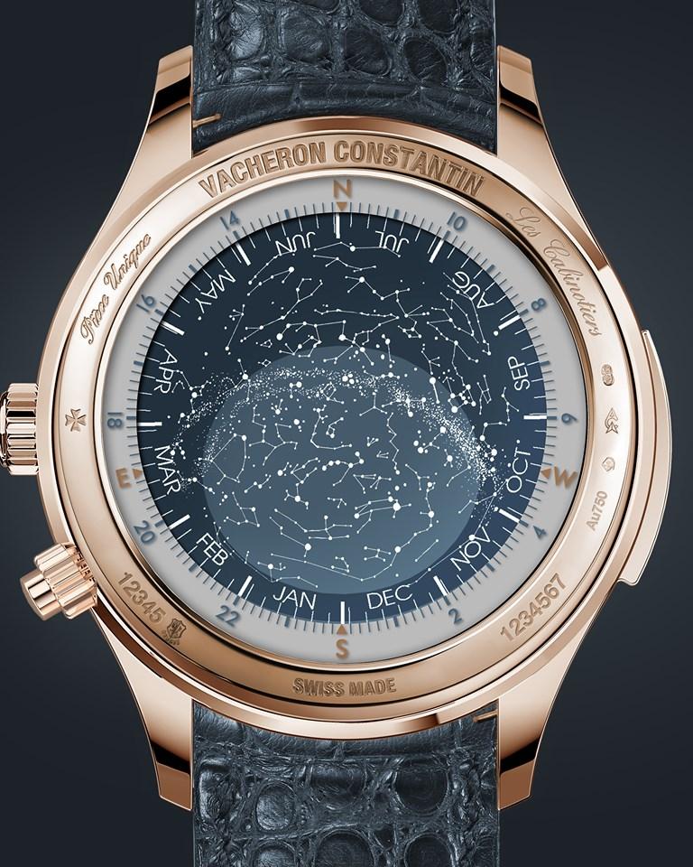 """Mặt lưng thiên văn của đồng hồ Vacheron Constantin """"La Musique du Temps"""" Les Cabinotiers Minute Repeater Tourbillon Sky Chart"""