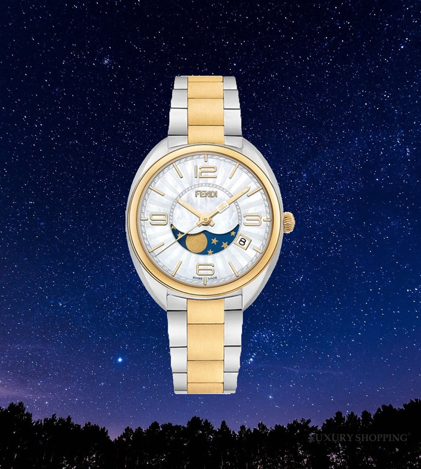 đồng hồ FENDI MOMENTO F232134500 MOONPHASE WATCH 34MM