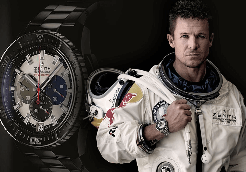 Felix Baumgartner và Zenith Stratos Flyback Striking 10th