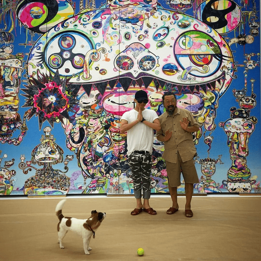 GD and takashi murakami