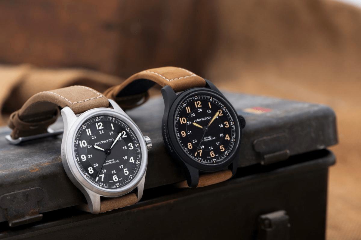 đồng hồ quân đội Hamilton Khaki Field Titanium 42mm