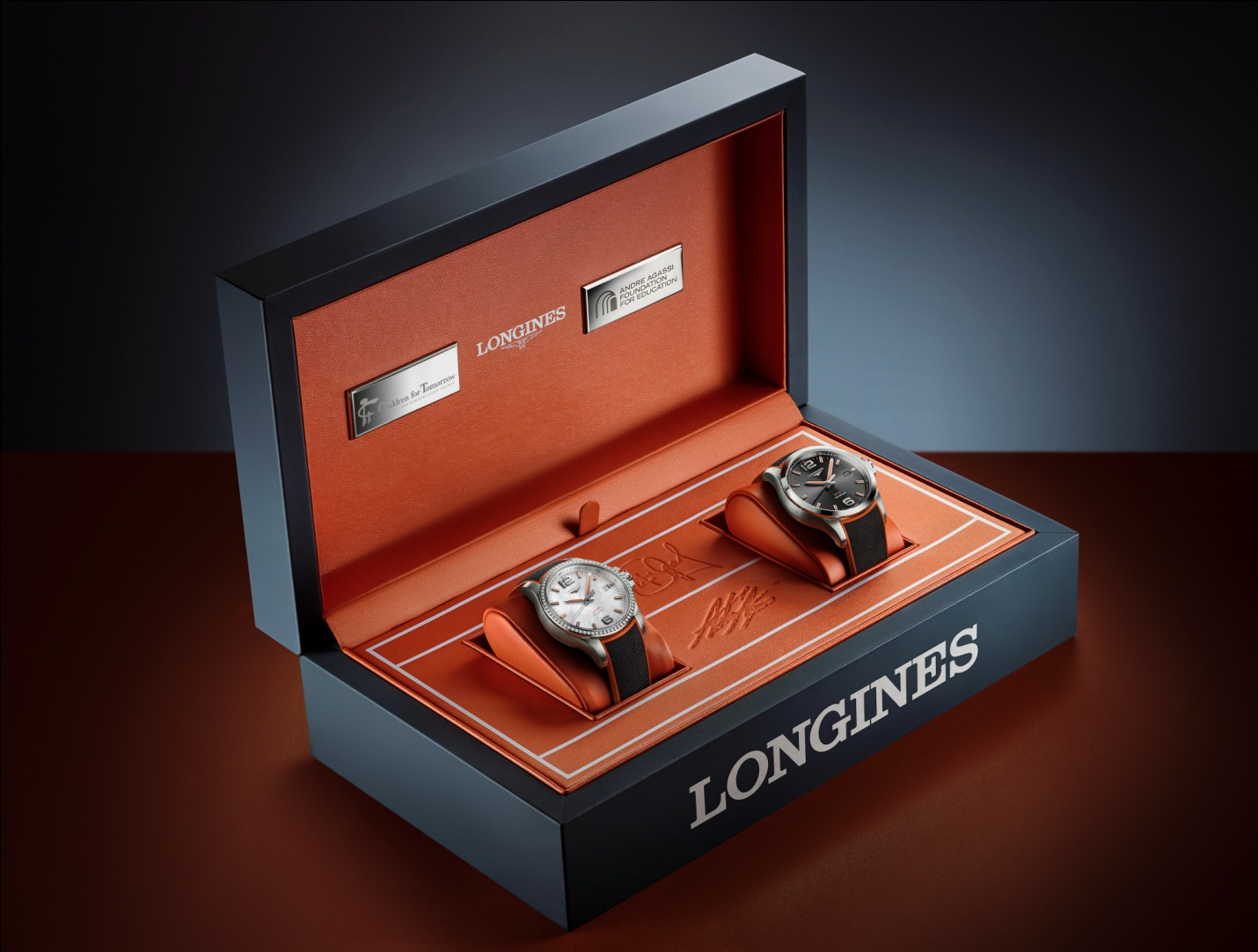 đồng hồ mới Longines Conquest V.H.P. Stefanie Graf & Andre Agassi Foundations