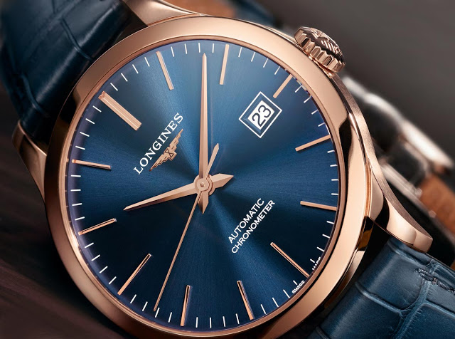 Đồng hồ Longines Record Automatic Chronometer Rose Gold