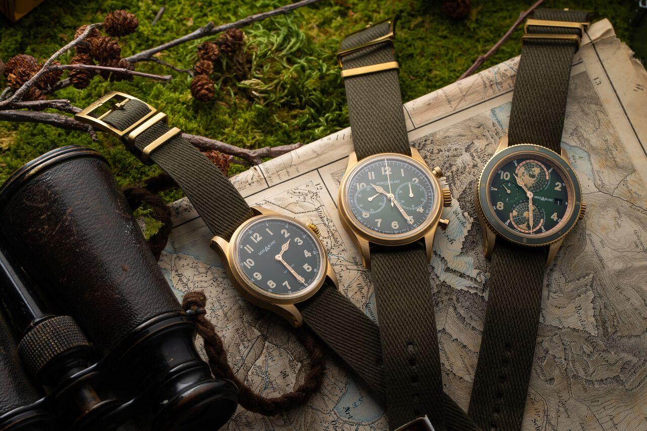 bộ sưu tập đồng hồ Montblanc xanh Kaki 2019