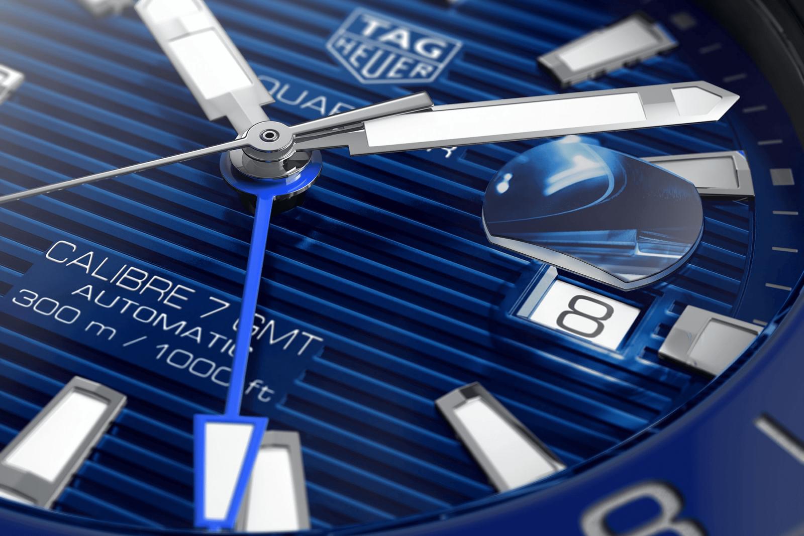 mặt số đồng hồ lặn tag heuer aquaracer gmt black blue mới