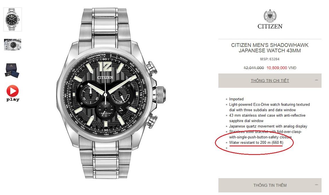 Đồng hồ hiệu chính hãng chống nước - Luxury Shopping