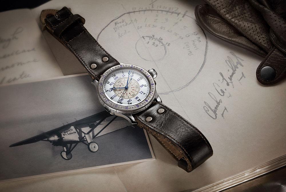 Longines Hour Angle - Chiếc đồng hồ đánh dấu đánh dấu 90 năm phi công Charles Lindberg một mình vượt Đại Tây Dương