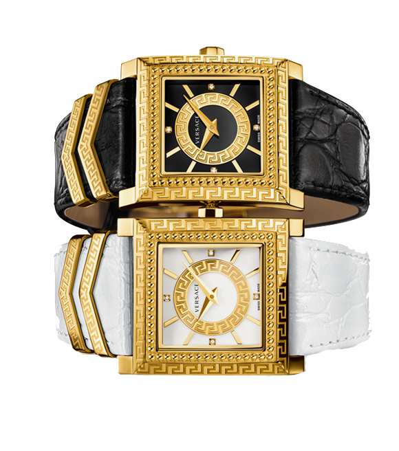 Versace DV-25 Swiss Quartz Black Watch 30mm