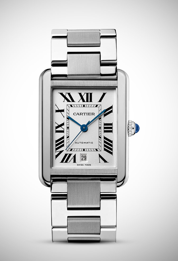Đồng hồ Cartier Tank phiên bản thép hoàn toàn