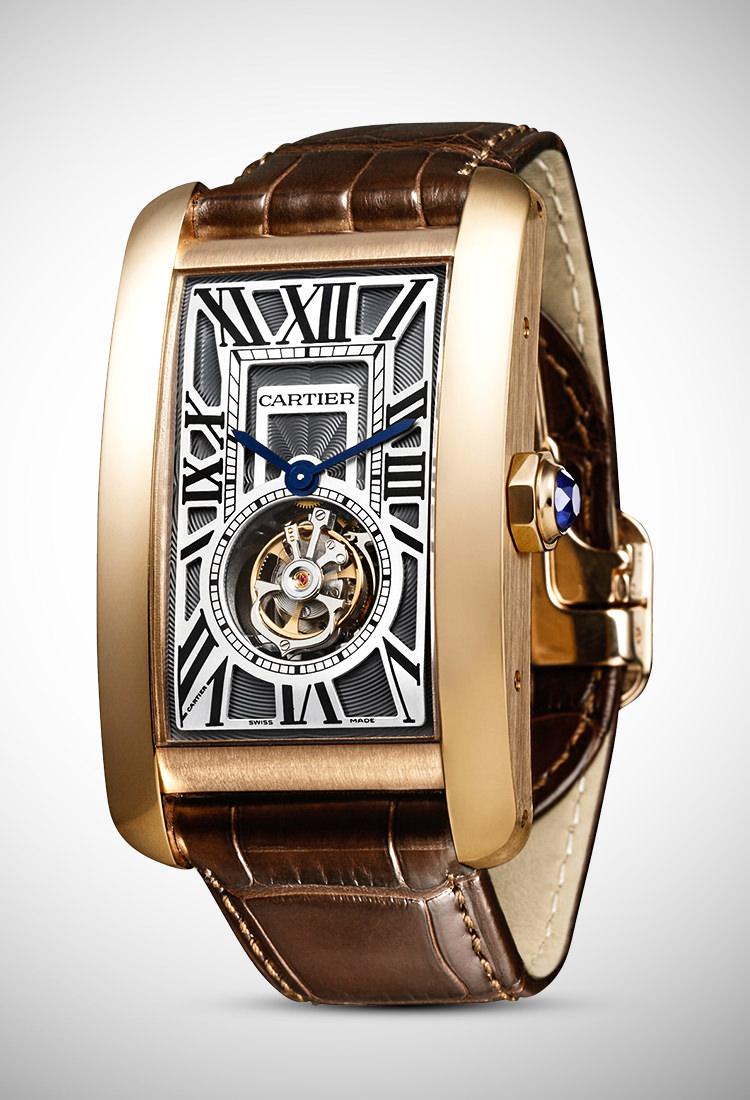 Đồng hồ đeo tay Tank Tourbillon - Tank Américaine