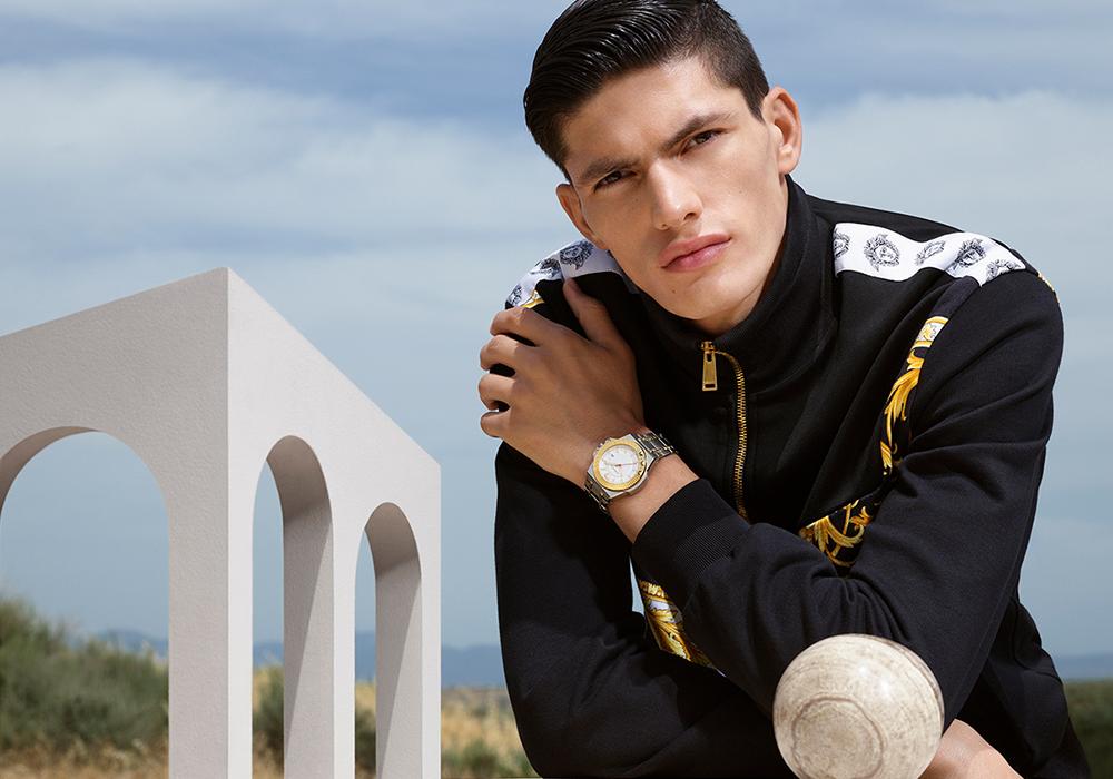 BST đồng hồ nam Versace Chain nổi bật với đường kính lớn